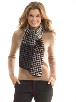 Neck's Best Thing Level 2 Knit Neutral Slip Stitch Scarf (Knit)