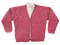 One Button Cardigan Pattern (Knit)