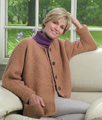 One Stitch Adult Cardigan Pattern (Knit)