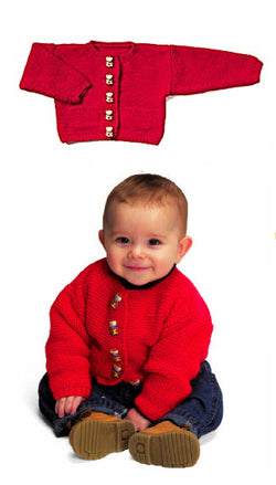 One Stitch Baby Sweater Pattern (Knit)