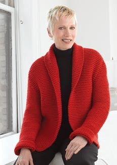 Red Hot Sweater Jacket Pattern (Knit)