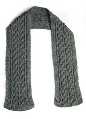 Reversible Cable Scarf Pattern (Knit)