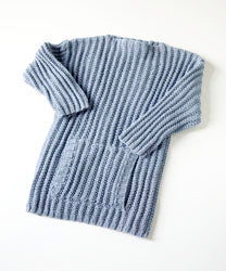 Ribbed Sweater Pattern (Knit)