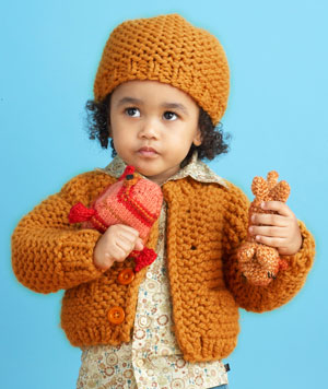 Sandbox Cardi and Hat Pattern (Knit)