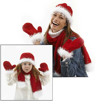 Santa Claus Scarf Pattern (Knit)