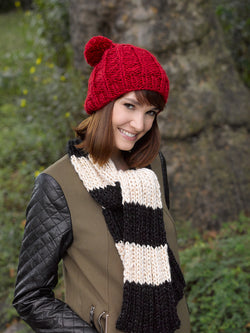 Slouchy Ribbed Hat Pattern (Knit)