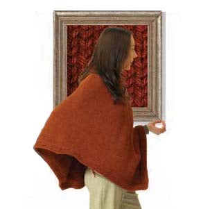 Split Collar Poncho Wool Ease Chunky Version Pattern (Knit)