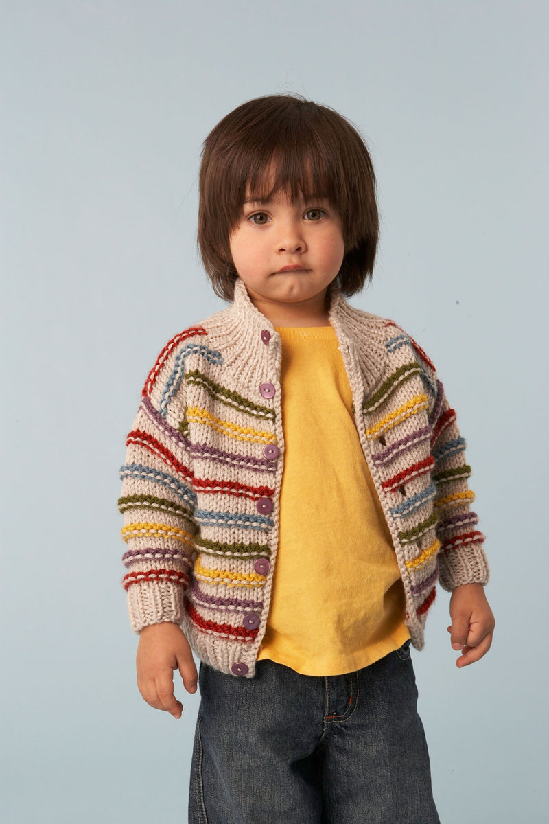 Standout Stripes Cardigan Pattern (Knit)
