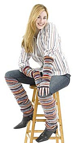 Striped Arm Warmers & Leg Warmers (Knit)