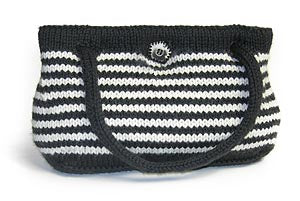Striped Self-Lined Bag (Knit)