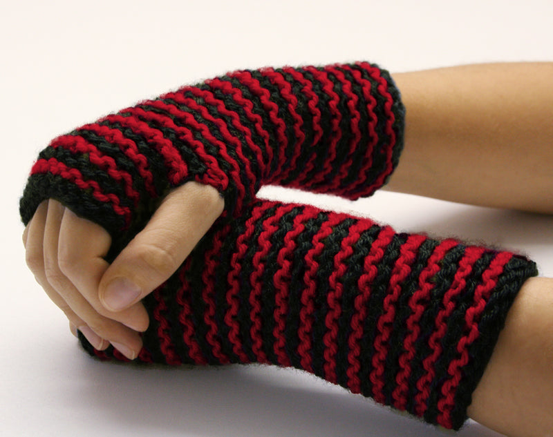 Striped Wristers Pattern (Knit)