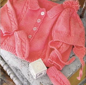 Sweet Sophisticate Baby Set Pattern (Knit)
