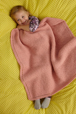 Sweet and Soft Baby Throw Pattern (Knit)