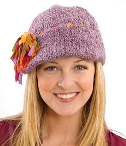 Tassel Fun Decorated Cap Pattern (Knit)