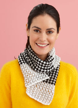 Three Color Scarf Pattern (Knit)