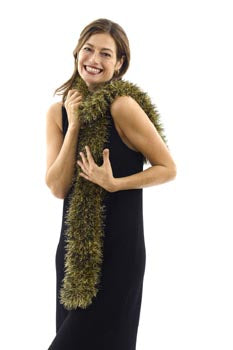 Tinsel Scarf Black and Gold Version Pattern (Knit)