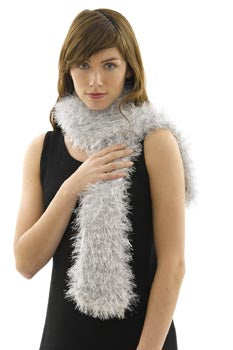 Tinsel Scarf Silver Version Pattern (Knit)