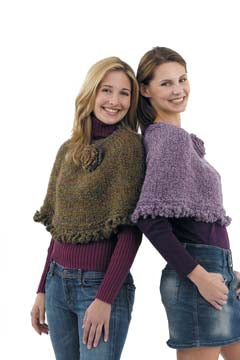 Town and Country Capelet with Crochet Trim Pattern (Knit)