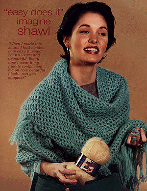 Triangle Knit Shawl Pattern (Knit)
