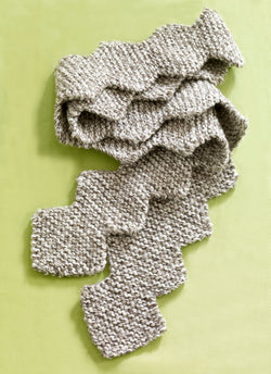 Zig Zag Tweed Scarf (Knit)