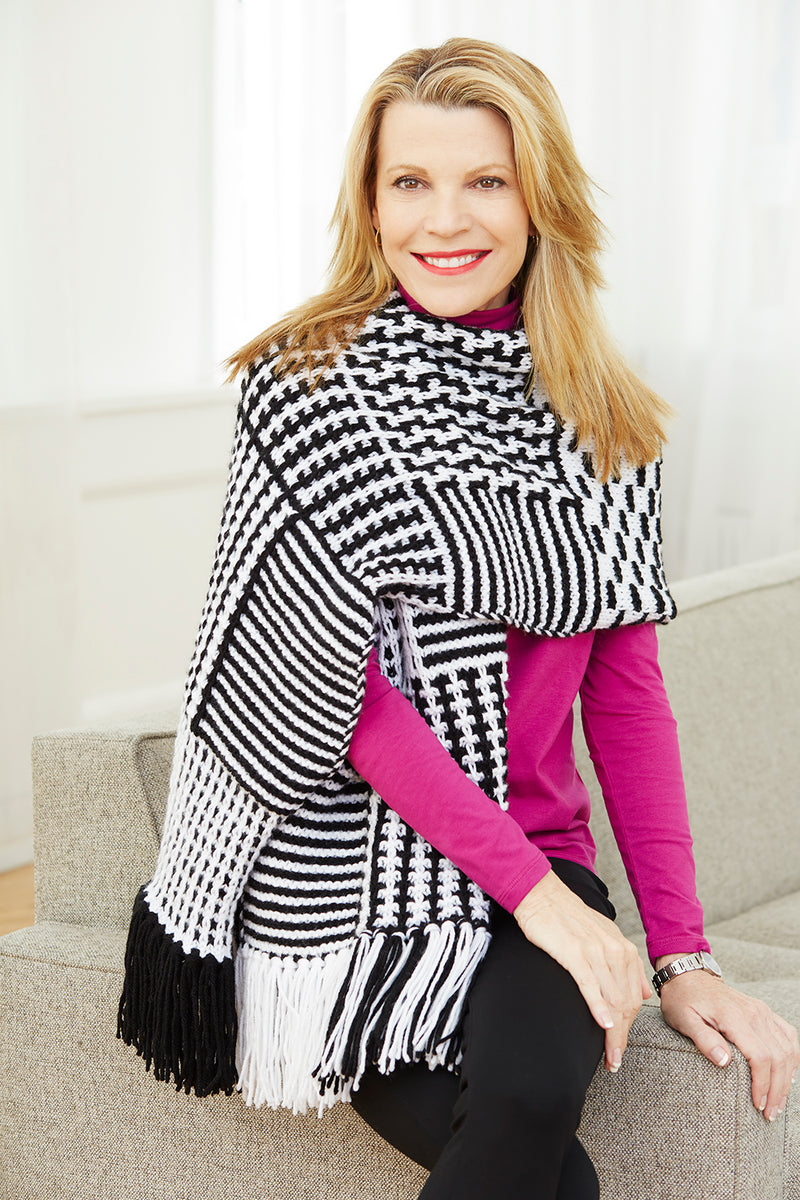 Slip Stitch Graphic Shawl (Knit)