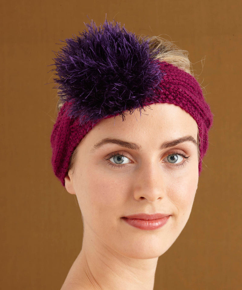 Berry Cabled Headband (Knit)