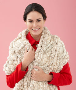 Modern Cabled Scarf (Knit)