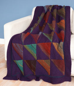 Striped Pennant Afghan (Knit)