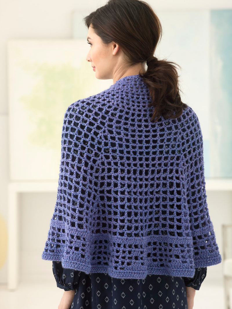 Filet Crochet Shawl (Crochet)