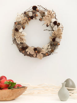 Autumn Leaves Wreath (Crafts)