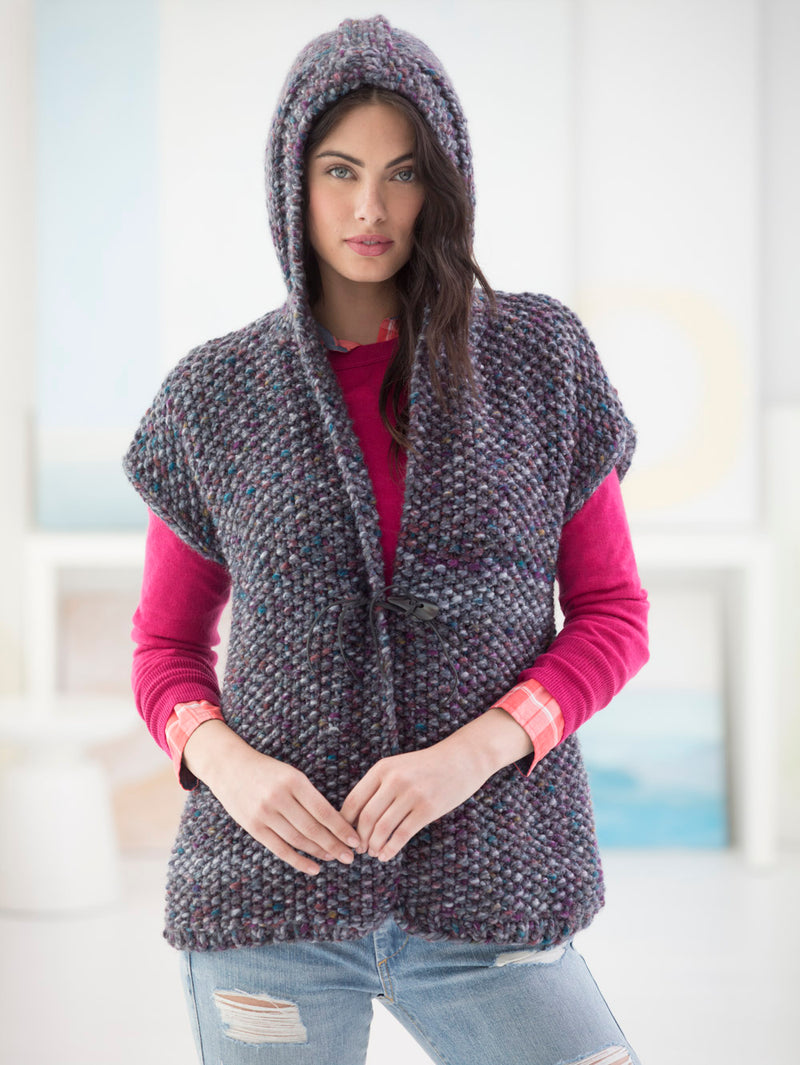 Powder Ridge Hooded Vest (Knit)