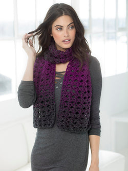 Eyelets And Clusters Scarf (Crochet)