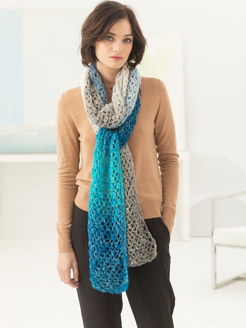 Selene Colorblock Super Scarf (Crochet)