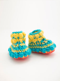 Puff Stitch Booties (Crochet)