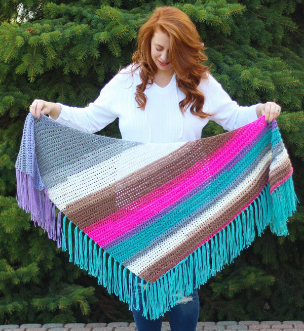 Crochet Kit - Sea Breeze Shawl