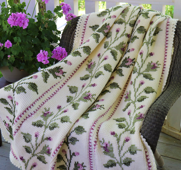 Crochet Kit - Summer Rose Afghan
