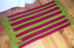 Loom Knit Summer Shag Rug With Fringe Pattern