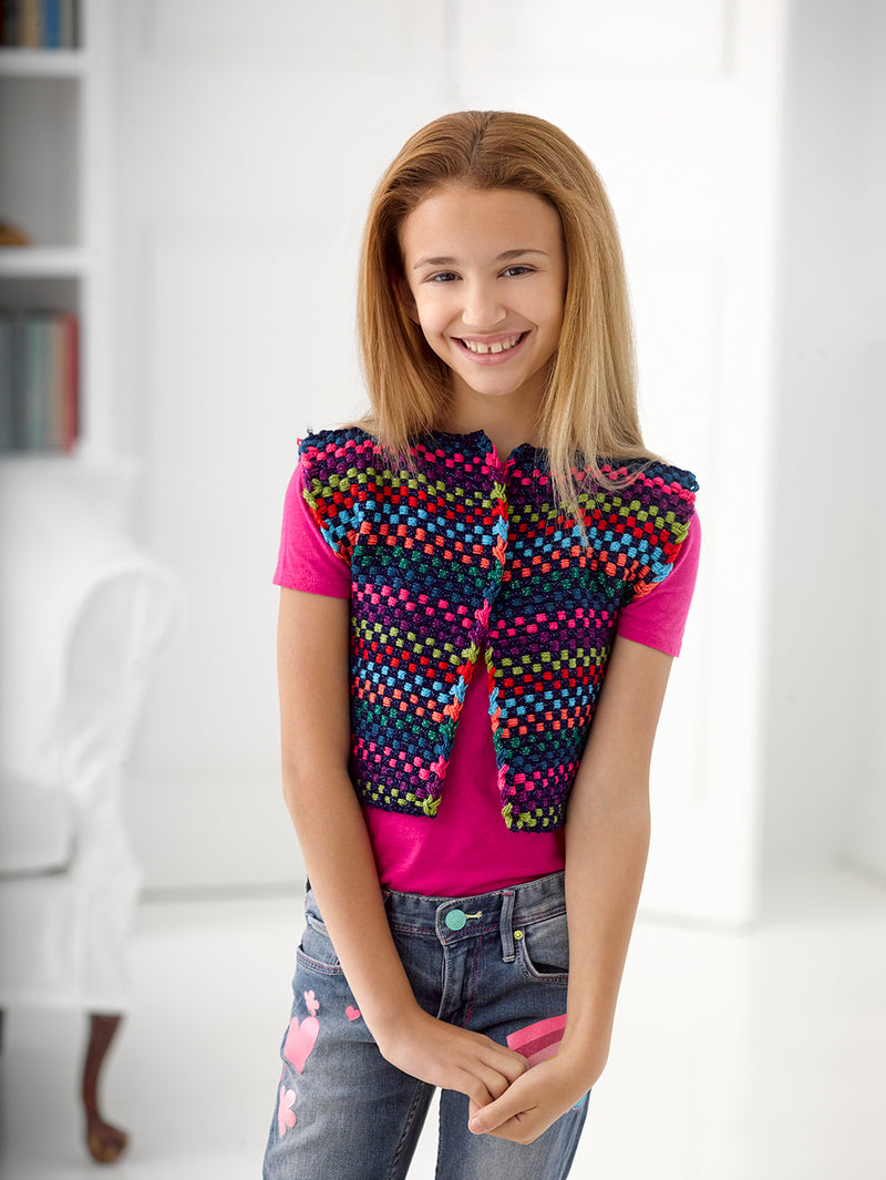 Bright Lights Vest Pattern (Loom-Weave)