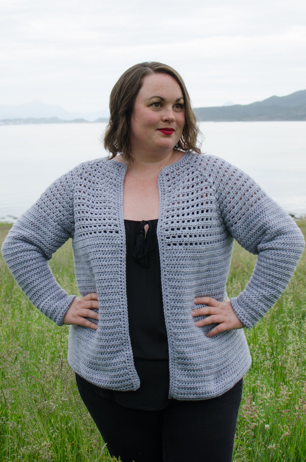 Simple Top Down Raglan Cardigan (Crochet)