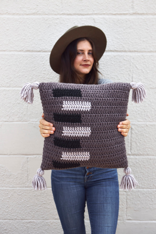 Sliding Doors Throw Pillow (Crochet)