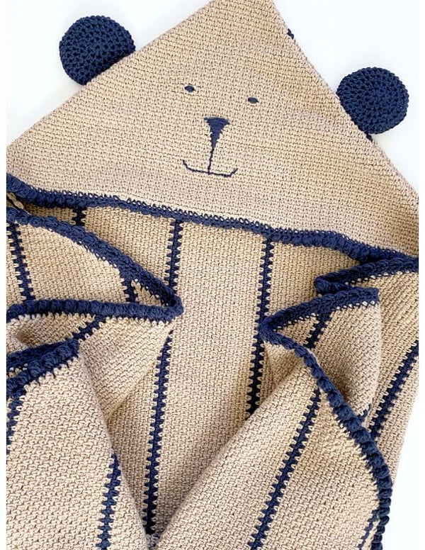 Cuddle Bear Hooded Lovey (Crochet)