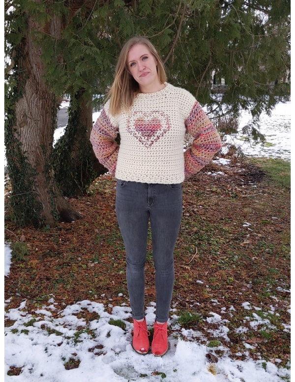 In my Heart Sweater (Crochet)