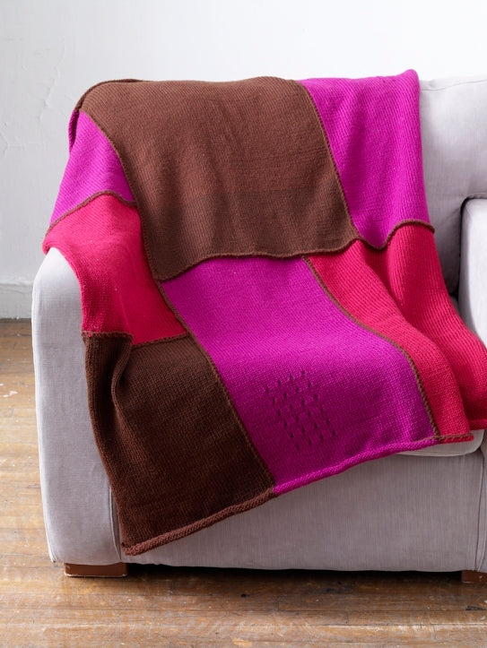 Machine Knit Piecework Blanket Pattern