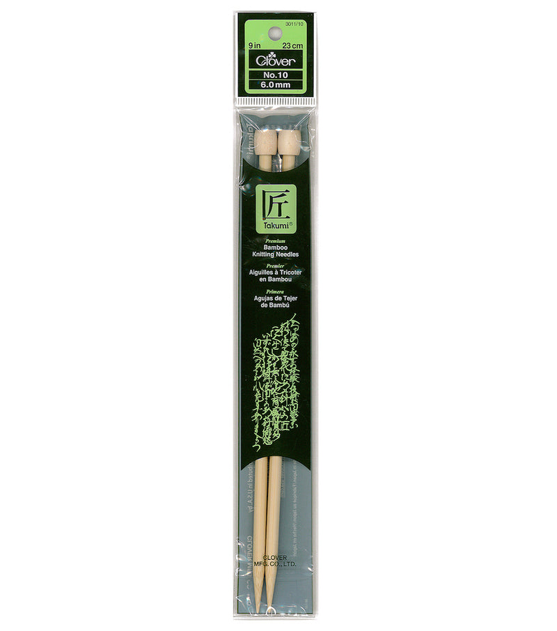 Clover Bamboo Knitting Needles 9 inch