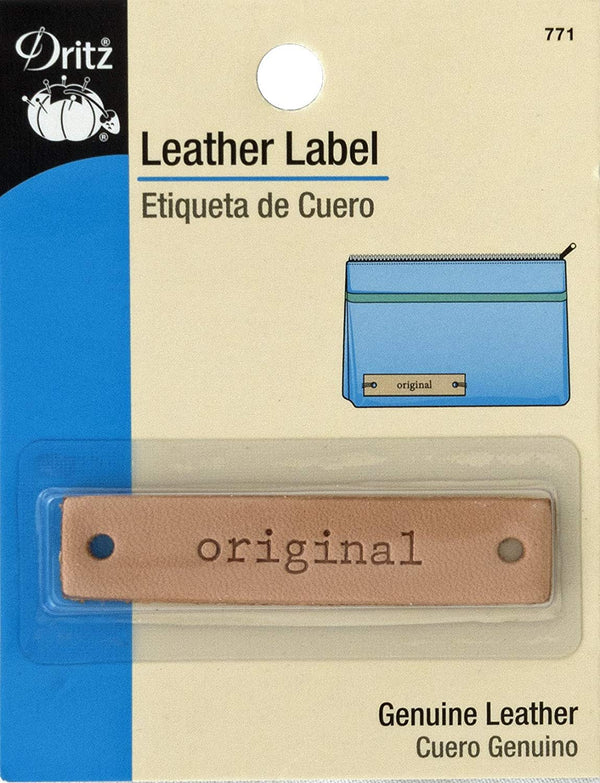 Dritz Rectangle Leather Tag