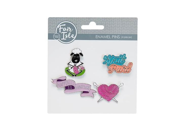 Enamel 4 Piece Pin Set