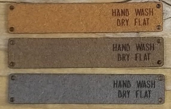 Foldover Wash Tags - Hand Wash, Dry Flat