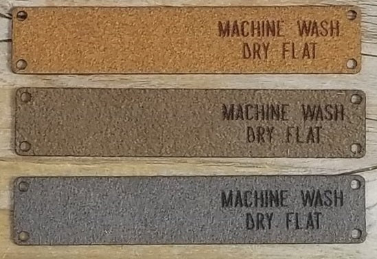 Foldover Wash Tags - Machine Wash, Dry Flat