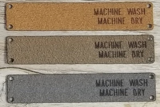 Foldover Wash Tags - Machine Wash, Machine Dry