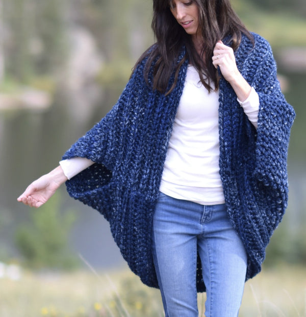 Crochet Kit - The Cozy Blanket Cardi